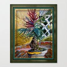 Sunny Palm Tree Canvas Print