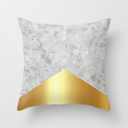 Concrete Arrow Gold #372 Throw Pillow