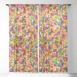 Gourmet Jelly Bean Pattern  Sheer Curtain
