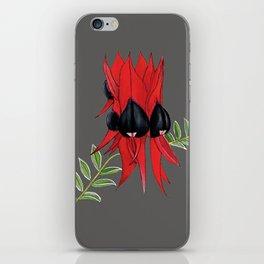 Sturt's Desert Pea wildflower iPhone Skin