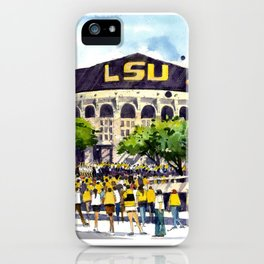 LSU Game Day iPhone Case
