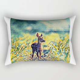 Lost Fawn Of The Dreamworld | Painting  Rectangular Pillow