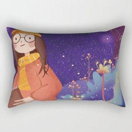 Night Magic Girl Rectangular Pillow
