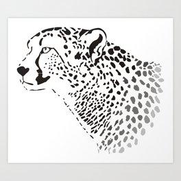 Head Cheetah Art Print