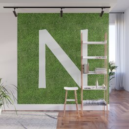 N initial letter alphabet on the grass Wall Mural