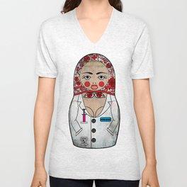 Dirty Nurse Matryoshka/Nesting Doll Unisex V-Neck