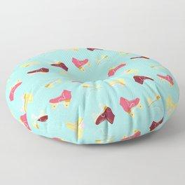Roller skate love Floor Pillow
