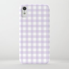 Lilac gingham pattern iPhone Case