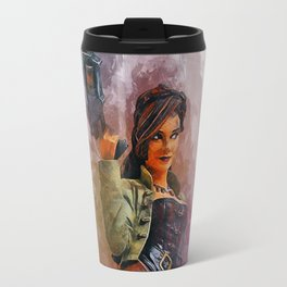 Steampunk Girl Travel Mug