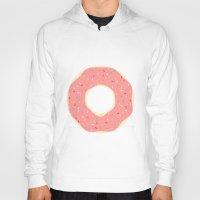 doughnut Hoodies featuring #93 Doughnut by MNML Thing
