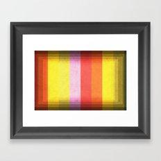 Warm Color Stripes Framed Art Print