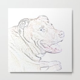 Happy Dog Metal Print