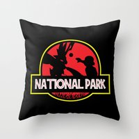 the national Throw Pillows featuring National Park by EnoLa
