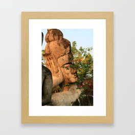 Zen Buddha Sleeping Framed Art Print