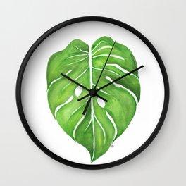 Philodendron Monstera Deliciosa Wall Clock