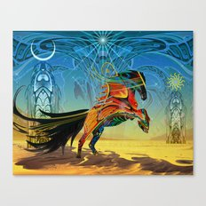 The Wind of Time (Red Horse) Canvas Print