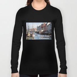 Nyhavn Canal Copenhagen Denmark Long Sleeve T-shirt