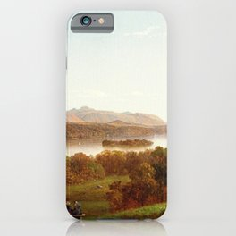 View From Hyde Park 1869 By David Johnson | Reproduction | Romanticism Landscape Painter iPhone Case