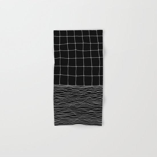 Hand Drawn Grid Hand & Bath Towel