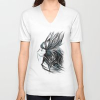 howl V-neck T-shirts featuring howl by mazgalitura