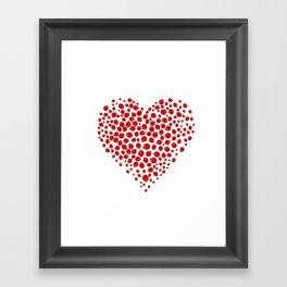 Ladybug heart Framed Art Print