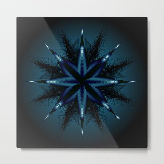 Evil Star Geometry Metal Print
