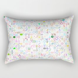 ICONS Overdrive, Color Rectangular Pillow