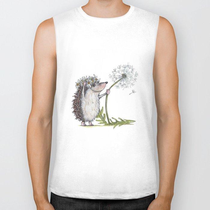 Hedgehog & Dandelion Biker Tank