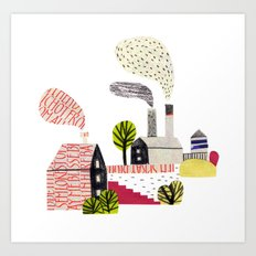 Small City Stories Art Print