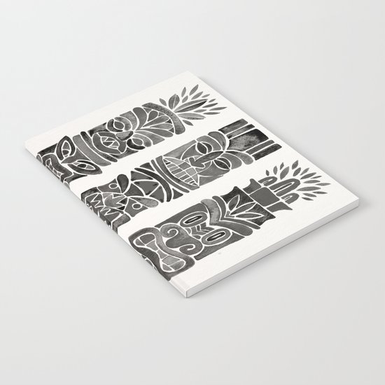 Tiki Totems – Black Notebook