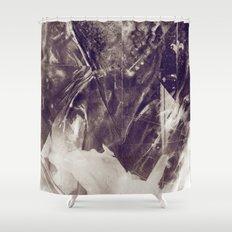 Black Crystal Shower Curtain