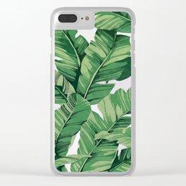 Tropical banana leaves VI Clear iPhone Case