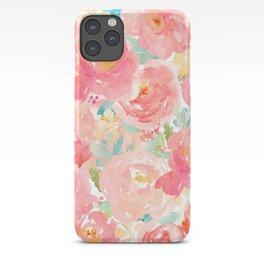 Preppy Pink Peonies iPhone Case