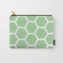 Mint Honeycomb Carry-All Pouch