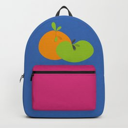Orange and Apple Pop Art Fruit Backpack