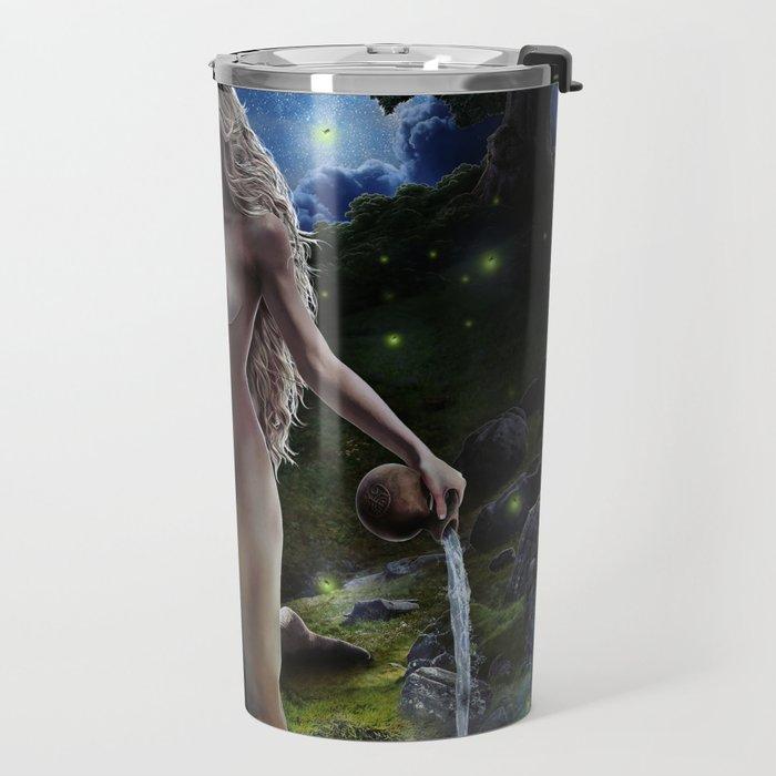 XVII. The Star Tarot Card Illustration (Color) Travel Mug