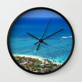Ocean view Hawaii Wall Clock