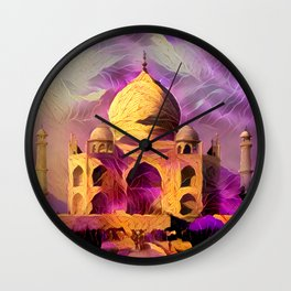Violet Temple Wall Clock