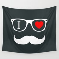 hipster Wall Tapestries featuring Hipster by Hipster