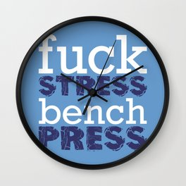 Bench Wall Clock