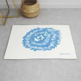 March's Blue 6   | Artline Drawing Pens Sketch Rug
