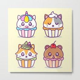 Sweet Pet Cupcakes Metal Print