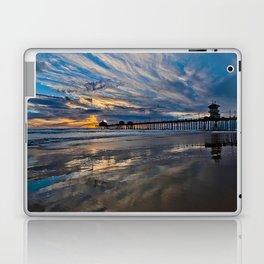 HB Sunsets  1/6/16   /  Sunset At The Huntington Beach Pier Laptop & iPad Skin