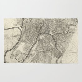 Map of Moscow - 1745 Rug