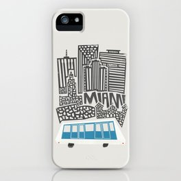 Miami Cityscape iPhone Case