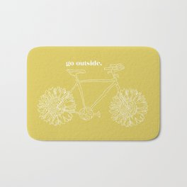 Sunflower Bike Bath Mat