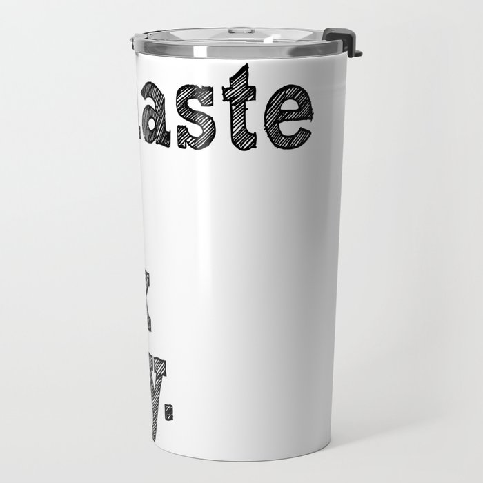 namaste the fuck away. Travel Mug