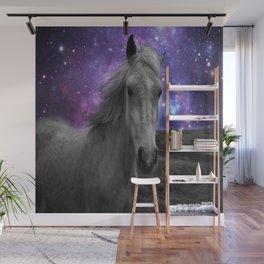 Horse Rides & Galaxy skies muted Wall Mural