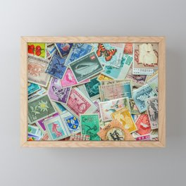 Stamps 2 Framed Mini Art Print