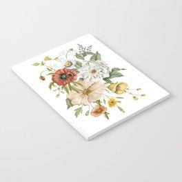 Wildflower Bouquet on White Notebook